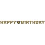 Gold Sparkling Celebration Prismatic Letter Banners 2.13m x 17cm - 12 PC