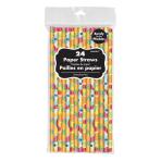 Fruit Salad Paper Straws - 10 PKG/24