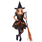 Spooky Witch Spider Costume - Age 6-8 Years - 1 PC