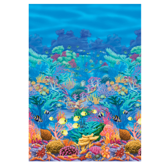 Underwater Friends Coral Reef Room Scene Setters - 4 Rolls