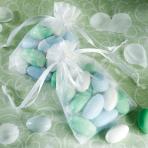 White Organza Bags  - 10cm x 7.6cm - 12 PKG/24