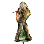 "Star Wars Chewbacca SuperShape Foil Balloons 17""/43cm w x 38""/96cm h - P38 5 PC"