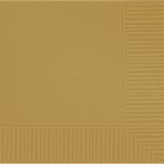 Gold Beverage Napkins 25cm - 12 PKG/50