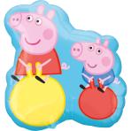 """Peppa Pig SuperShape XL Foil Balloons 21""""/53cm w x 22""""/56cm h P35 - 5 PC"""