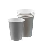 Silver Sparkle Paper Cups 266ml - 12 PKG/8