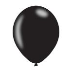 "Pearlised Black Latex Balloons 11""/27.5cm - 10PKG/10"