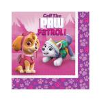 Paw Patrol Pink Luncheon Napkins 33cm - 6 PKG/16