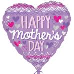 Happy Mother's Day Purpose Scallop Standard HX Foil Balloons S40 - 5 PC