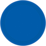 Bright Royal Blue Paper Plates 18cm - 6 PKG/20