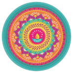 Diwali Paper Plates 26cm - 12 PKG/8