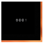 Boo! Hot Stamped Luncheon Napkins 33cm - 6 PKG/16