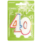 Milestone Candle Number 40 - 6 PKG