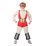 Boys Wrestler Muscle Costume - Age 8-10 Years - 1 PC