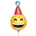 Birthday Emoticon Mini Shape Foil Balloons A30 - 5 PC