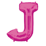 """Letter J Pink SuperShape Foil Balloons 34""""/""""86cm P50 - 5 PC"""