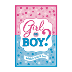 Girl or Boy Postcard Invitations - 6 PKG/8