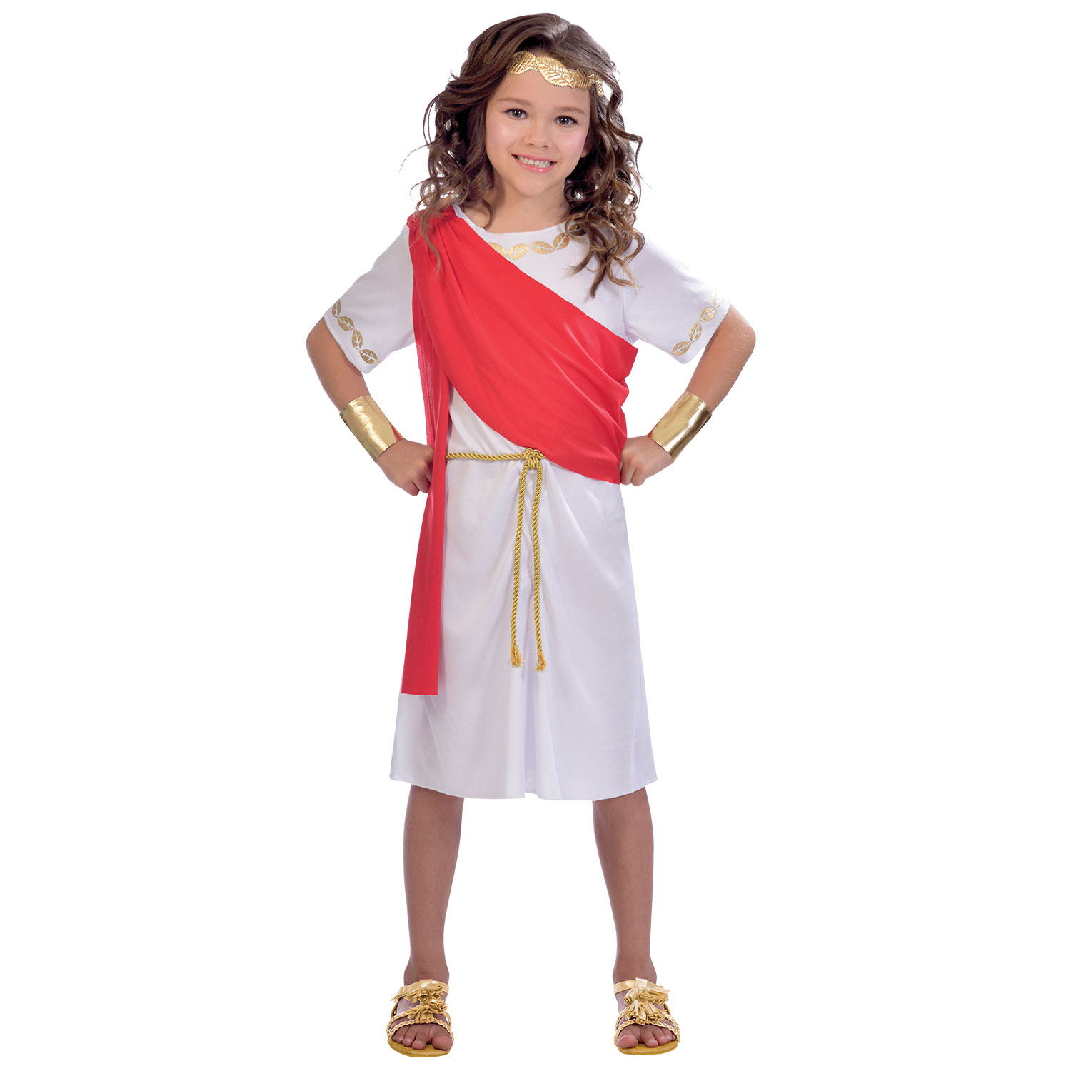 Toga Girl Costume , Age 10,12 Years , 1 PC  Amscan