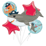 Ahoy Birthday Foil Balloon Bouquets P75 - 3 PKG/5