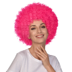 Pink Afro Wigs - 6 PC