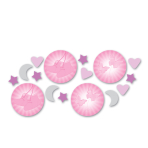 Christening Pink Booties Confetti 14g - 6 PKG