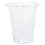 Plastic Clear Flared Medium Containers 14.9cm - 18 PC