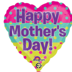 Happy Mother's Day Dots Standard Foil Balloons S40 - 5 PC