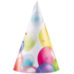 Balloon Fiesta Party Hats - 5 PKG/8