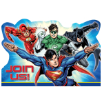 Justice League Postcard Invitation - 6 PKG/8