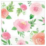 Floral Baby Beverage Napkins - 12 PKG/16