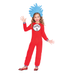 Thing One and Thing Two Jumpsuit - Age 8-10 Years - 1 PC