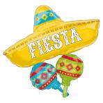 """Papel Picado Fiesta Cluster SuperShape Foil Balloons 31""""/78cm x 32""""/81cm P35 - 5 PC"""
