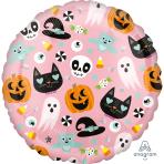 Fun Halloween Icons Foil Balloons S40 -  5 PC