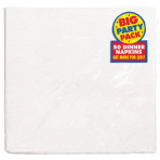 Frosty White Dinner Napkins 40cm 2ply - 12 PKG/50