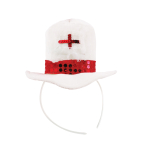 England Adult Mini Fabric Top Hat Headbands - One size fits most - 6 PC