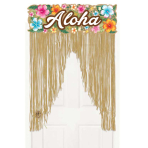Beachy Blooms Door Curtains - 6 PKG
