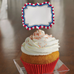 4th July Paper Cake Picks - 12 PKG/24
