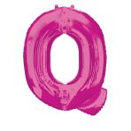 """Letter Q Pink SuperShape Foil Balloons 34""""/""""86cm P50 - 5 PC"""