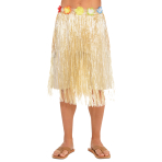 Hawaiian Natural Long Skirts Adult Size 71cm x 78cm - 8 PC
