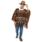 Western Poncho - One Size Fits All - 1 PC