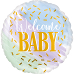 Watercolour Welcome Baby Standard Foil Balloons S40 - 5 PC