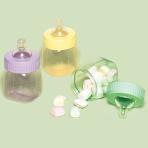 Fillable Multi Colour Baby Bottle Favours - 4 PKG/6