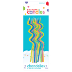 Skinny Assorted Coil Candles 12.5cm - 12 PKG/12