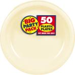 Vanilla Creme Plastic Plates 18cm - 6 PKG/50