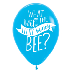 "What Will It Bee? 4 Sided Latex Balloons 11""/28cm - 6 PKG/6"