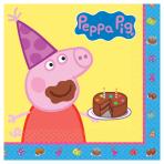 Peppa Pig Luncheon Napkins 33cm - 6 PKG/16