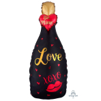 "Bubbly Love Garland Multi Foil Balloons 14""/35cm w x 35""/88cm h P41 - 5 PC"