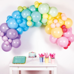 Pastel Rainbow DIY Garland Balloon Kits - 4 PKG/78