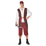 Pirate Pete Costume - Size M - 1 PC