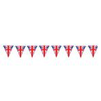 Red White & Blue GB Flag Plastic Pennant Bunting 5m - 6 PC