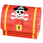 Pirate Treasure Paper Favour Boxes - 6 PKG/8